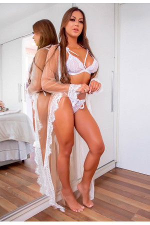 White Seduction Robe
